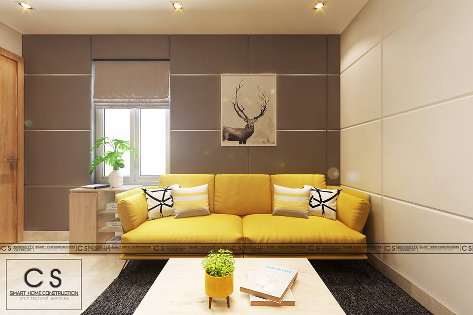 thiết kế nội thất căn hộ chị nam