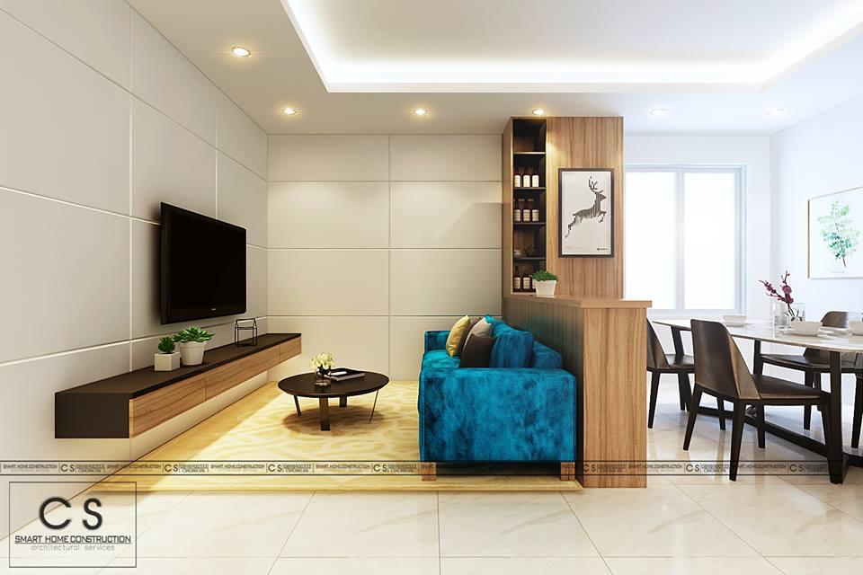 thiết kế nội thất căn hộ chị xuân
