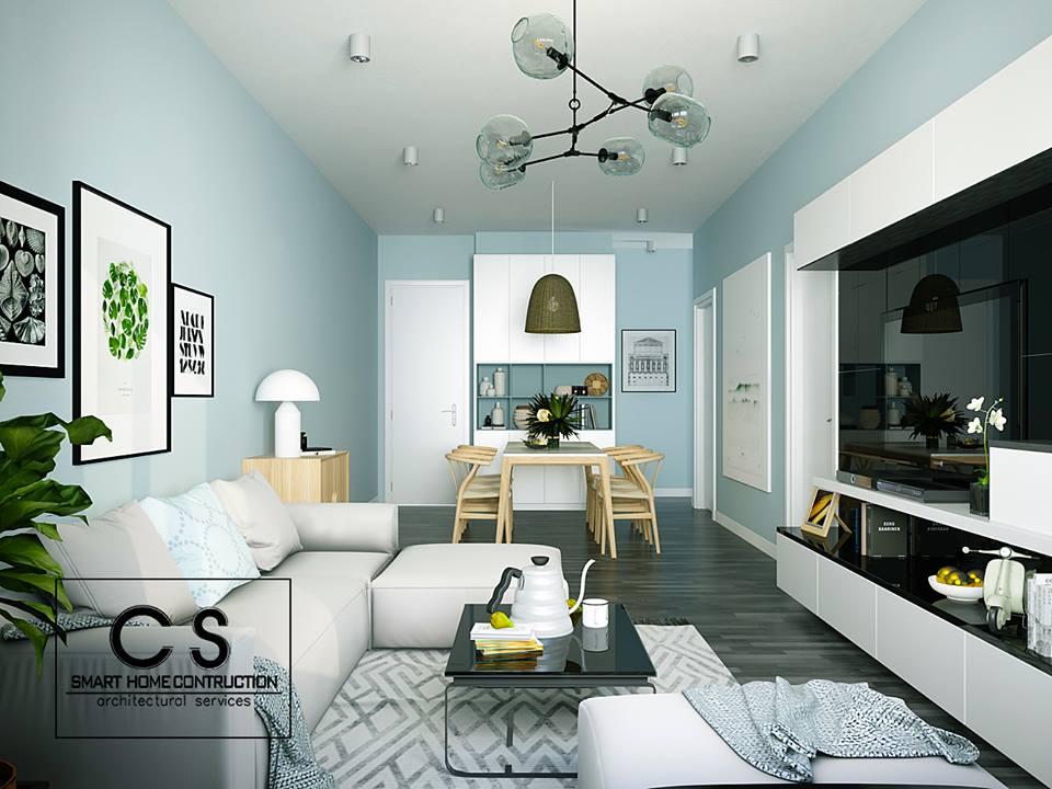 thiết kế nội thất căn hộ chị thảo