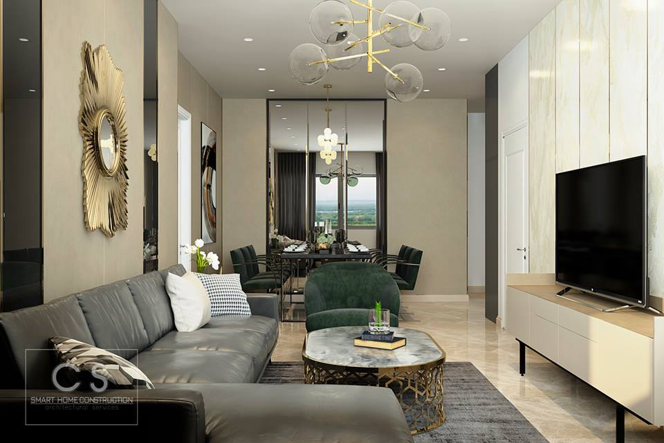 thiết kế nội thất căn hộ anh trí
