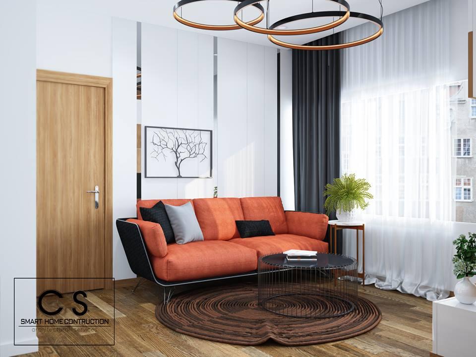 thiết kế nội thất căn hộ chị hiền