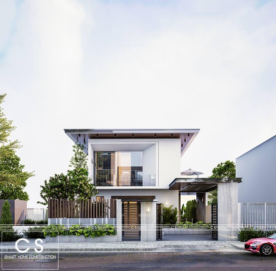 kiến trúc nhà chị lan