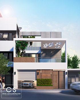 kiến trúc nhà chị nhung