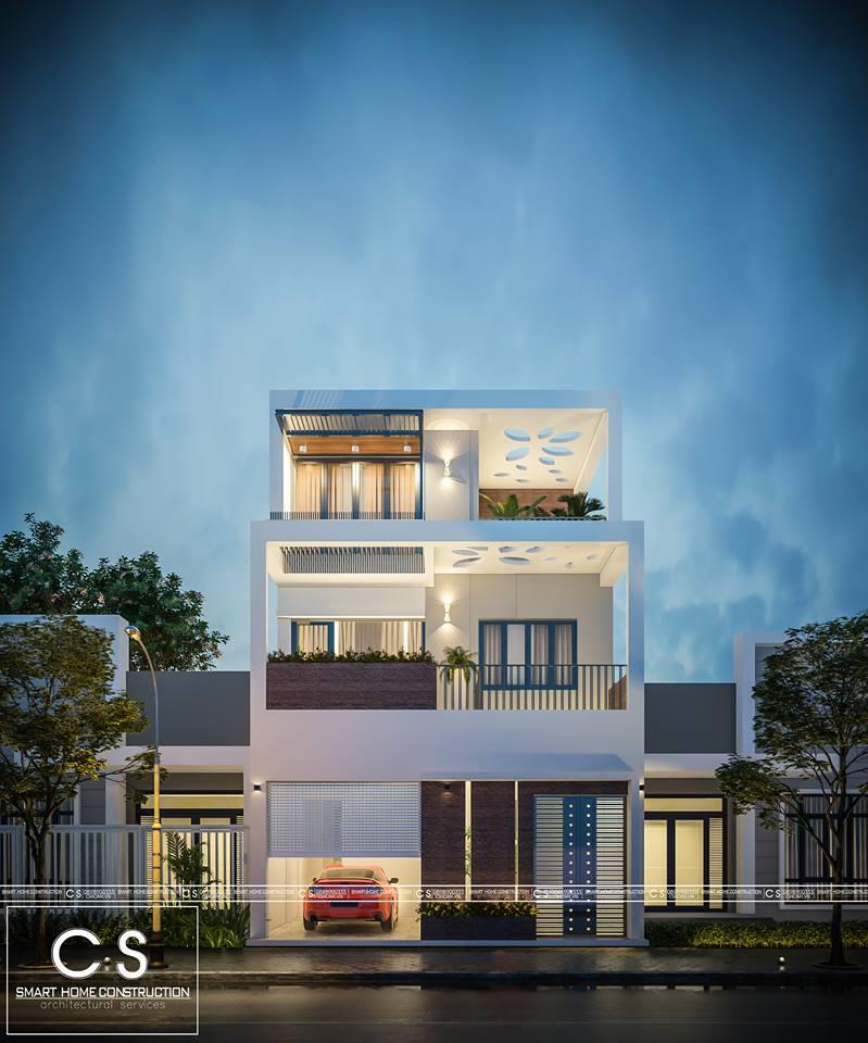 kiến trúc nhà chị tuyết
