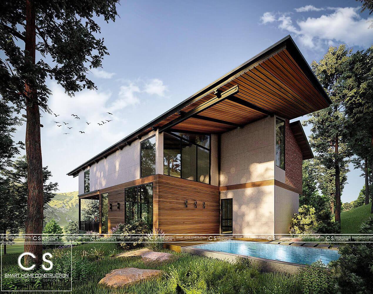 thiết kế kiến trúc homestay vườn đồi