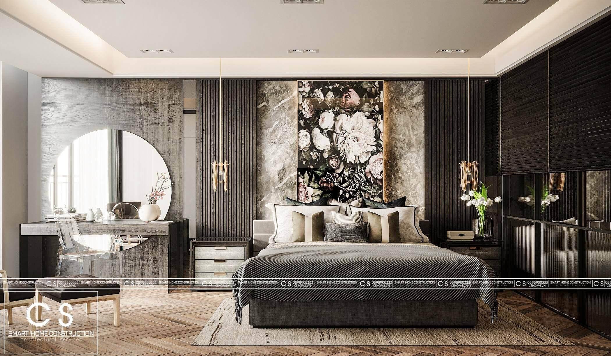 thiết kế nội thất căn hộ chị tuyết
