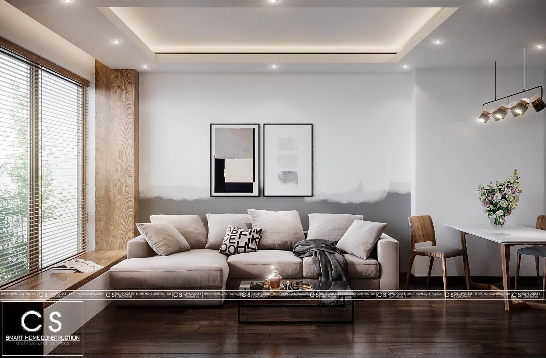 thiết kế nội thất căn hộ hiện đại vcn ct2