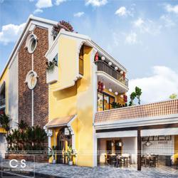 thiết kế kiến trúc quán mì quảng hội an