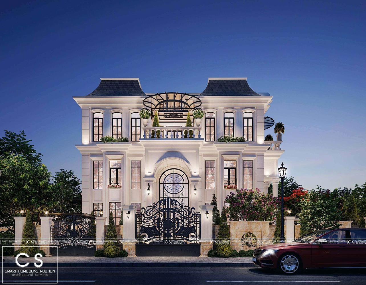 thiết kế kiến trúc biệt thự tân cổ điển tại quy nhơn