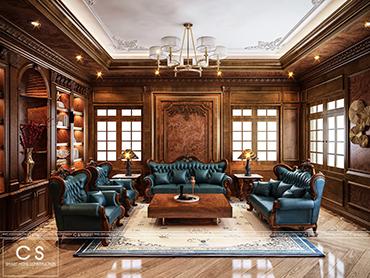 nội thất gỗ tự nhiên cho biệt thự