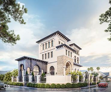 thiết kế kiến trúc biệt thự anh hùng