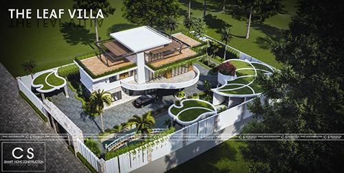 kiến trúc the leaf  villa