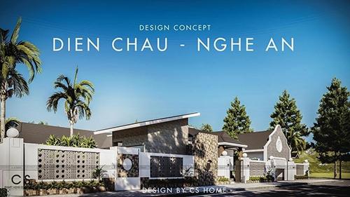 thiết kế kiến trúc nhà chị quỳnh