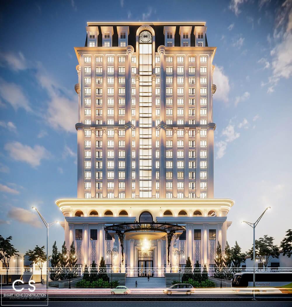 thiết kế khách sạn chuẩn 5 sao