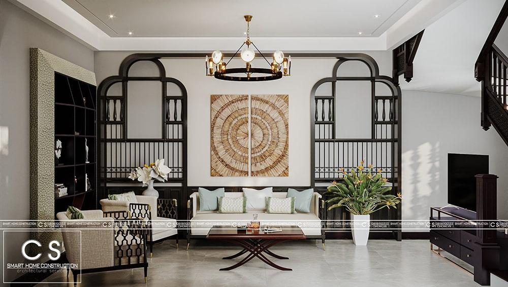 thiết kế nội thất nhà phố phong cách indochine