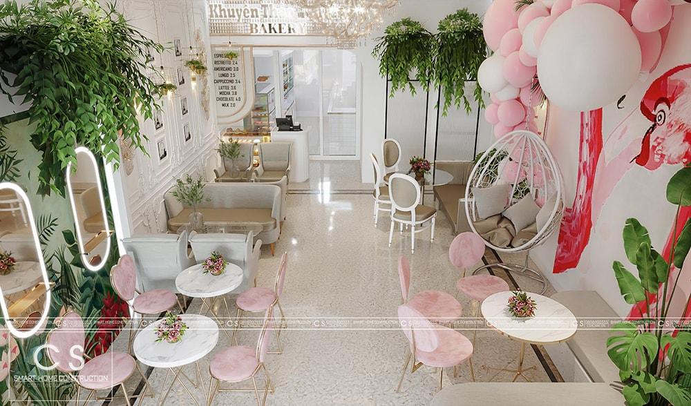 thiết kế nội thất tiệm bánh ngọt cafe