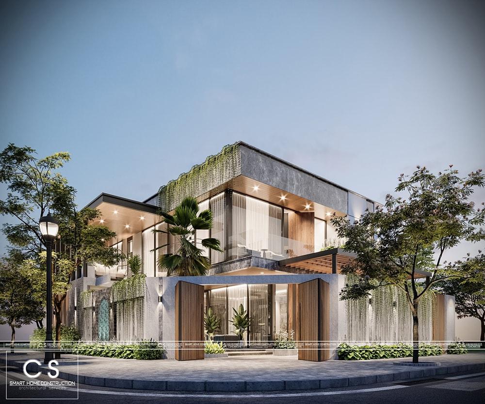 thiết kế kiến trúc biệt thự anh vượng