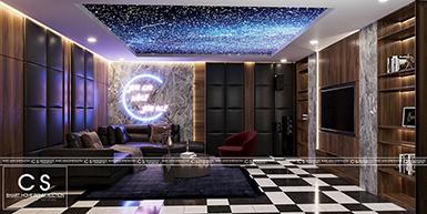 thiết kế nội thất phòng kara