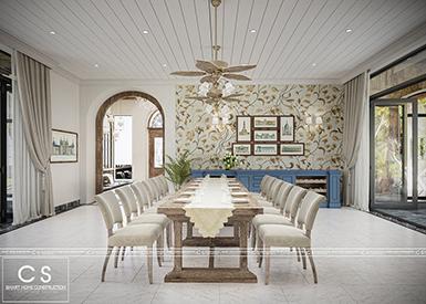 thiết kế nội thất biệt thự vườn chị giang