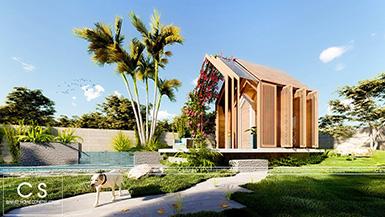 thiết kế nhà gỗ bungalow homestay farmstay