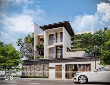 thiết kế kiến trúc nhà phố kđt hà quang 2, nha trang