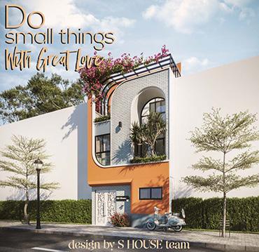 thiết kế nhà phố độc đáo nha trang