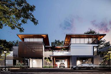 thiết kế kiến trúc nhà phố kết hợp kinh doanh