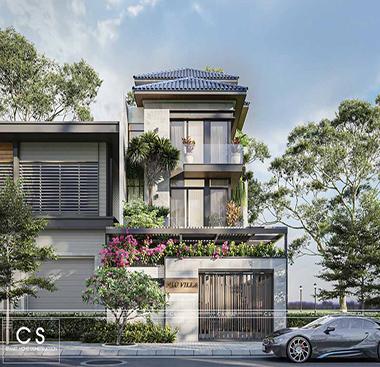 thiết kế kiến trúc nhà phố tại handico vinh tân nghệ an