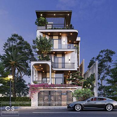 thiết kế kiến trúc nhà phố anh tùng - nha trang