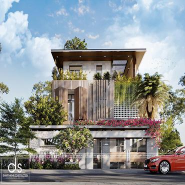 thiết kế kiến trúc biệt thự hà quang