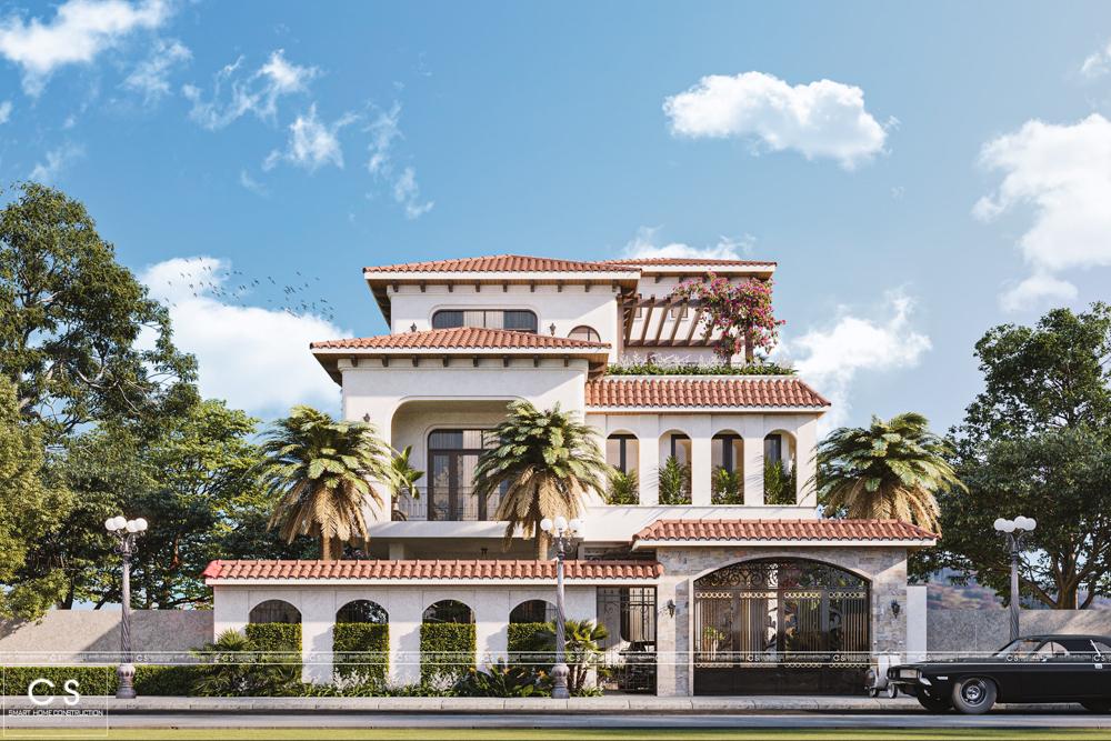 thiết kế kiến trúc biệt thự địa trung hải