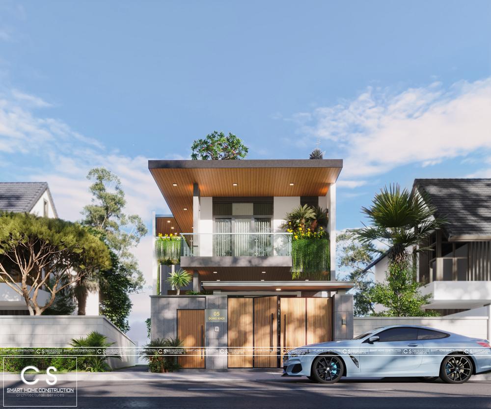 thiết kế kiến trúc nhà phố anh hùng
