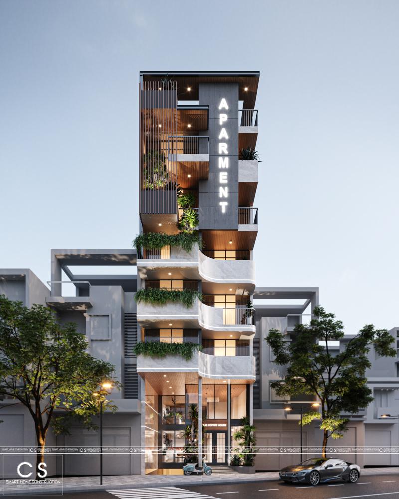 thiết kế kiến trúc nhà ở kết hợp quán cafe