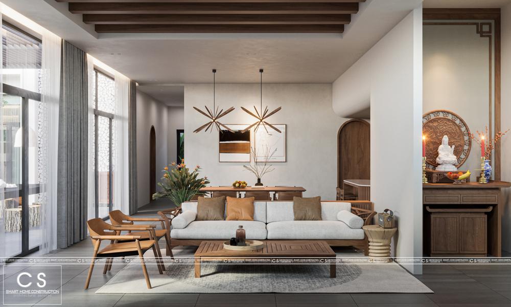thiết kế nội thất biệt thự vườn