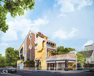ý tưởng cho ngôi nhà: thiết kế nhà phố kết hợp kinh doanh theo lối kiến trúc phố cổ hội an