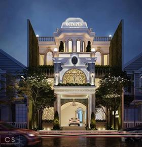 thiết kế nhà hàng otopus
